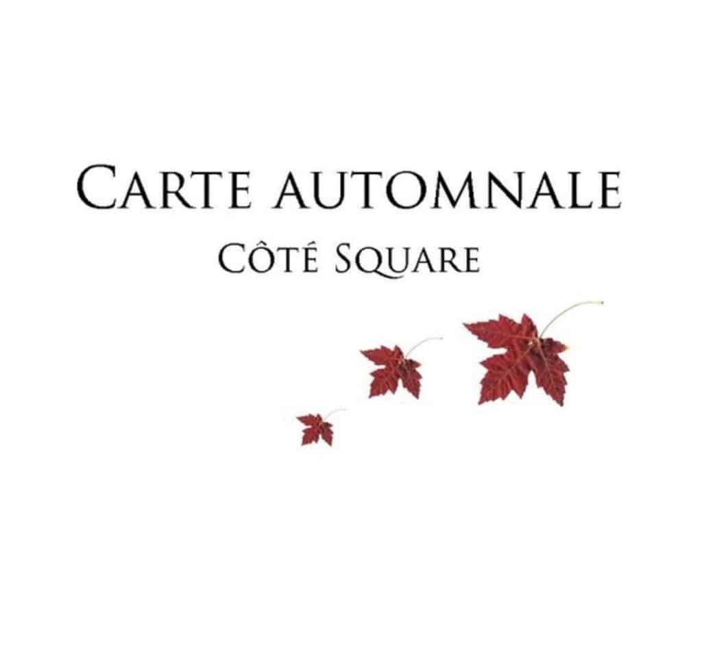 Collection d'automne à Côté Square